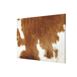 Brown Cowhide Print Wrapped Canvas