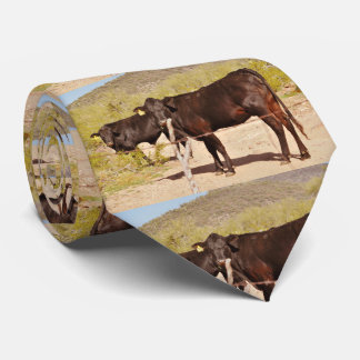 Brown Cows in Chrome Tie