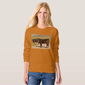 Brown Cows in Chrome Women's Sweatshirt