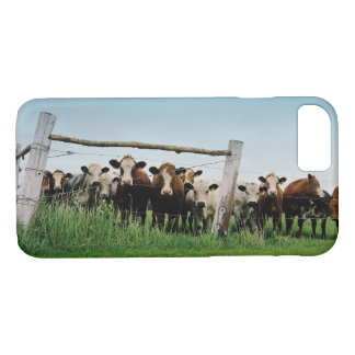 Brown Cows on the Countryside Farm Film Photograph iPhone 8/7 Case