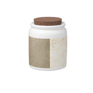 Brown Cream Bicolor Grunge Pattern Candy Jar