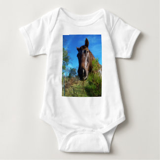 Brown & Cream Colored Horse blue sky T-shirts