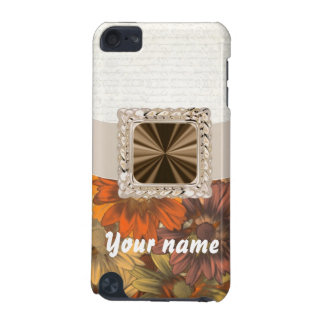 Brown & cream floral iPod touch 5G cover