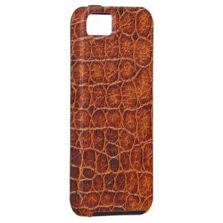 Brown Crocodile Skin iPhone 5  Tough Case