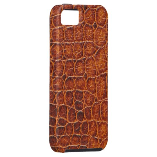Brown Crocodile Skin iPhone 5 Tough Case