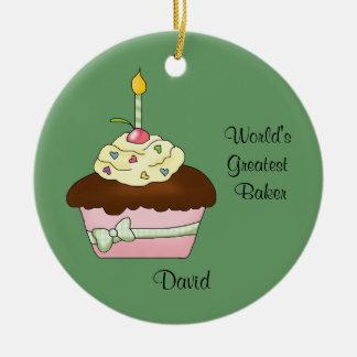 Brown Cupcake Christmas Ornament