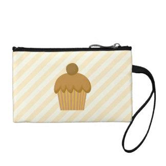 Brown Cupcake. Coin Purse