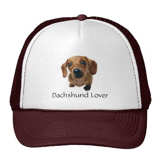 Brown Dachshund Pup Mesh Hats
