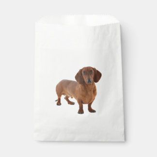 Brown Dachshund Puppy Dog Favour Bags