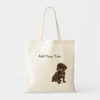 Brown Dachshund Puppy Totebag Budget Tote Bag