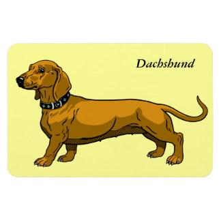brown dachshund rectangular photo magnet