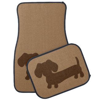 Brown Dachshund Tan Car Floor Mats Wiener Dog