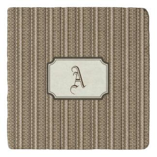 Brown Dakar Rectangular Monogram Trivet