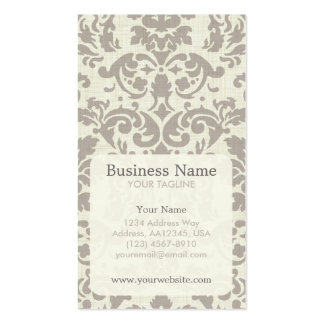 Brown Damask Appointment Business Card
