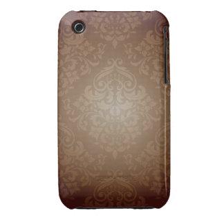 Brown Damask Design Blackberry Curve case