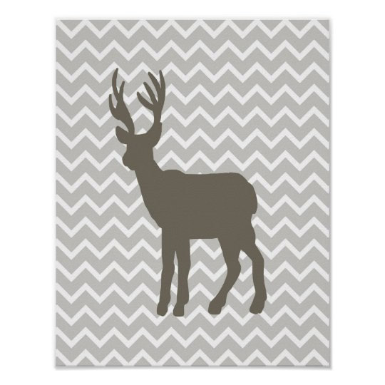 Brown Deer w/ Chevron Poster