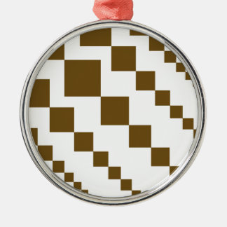 Brown Descending Diamonds Christmas Ornament