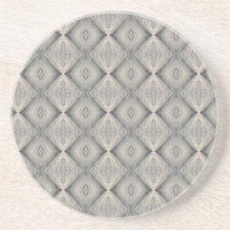 Brown Diamonds Pattern Drink Coaster