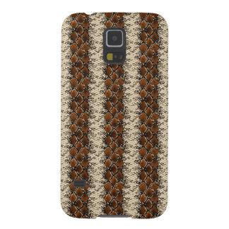 Brown Diamonds Snake Skin Pattern Galaxy S5 Cases