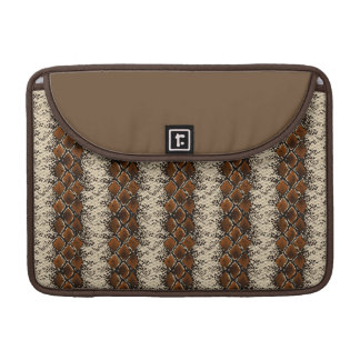 Brown Diamonds Snake Skin Pattern Sleeve For MacBooks
