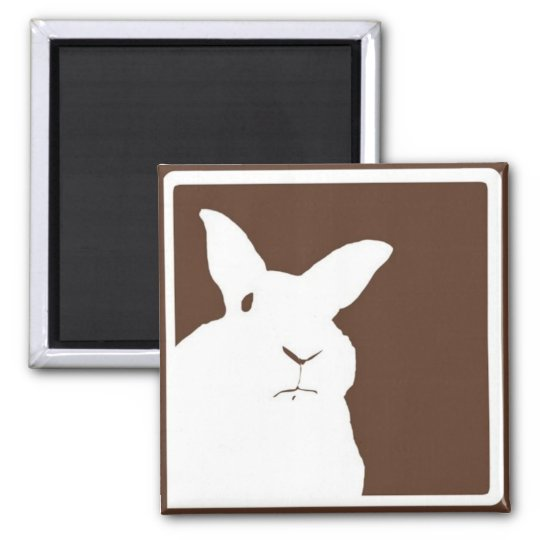 Brown Disapproving Rabbit Magnet