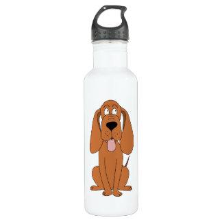 Brown Dog Cartoon. Hound. 710 Ml Water Bottle