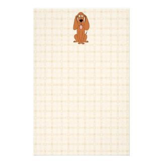 Brown Dog Cartoon. Hound. Custom Stationery