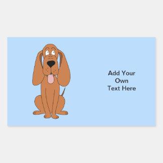 Brown Dog Cartoon. Hound. Rectangular Sticker