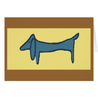 Brown Dog, Dachshund Card