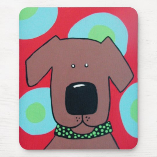 Brown Dog Mouse Pad