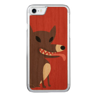 Brown Dog-red Carved iPhone 8/7 Case