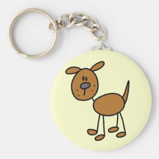 Brown Dog Tshirts and Gifts Basic Round Button Key Ring
