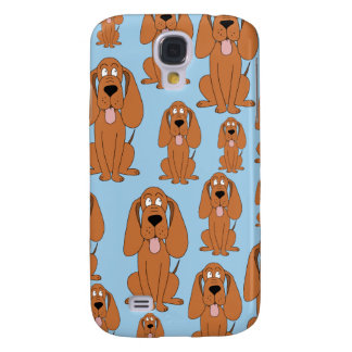 Brown Dogs on Light Blue. Galaxy S4 Case