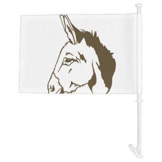 brown donkey car flag