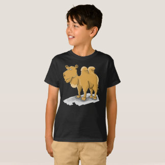 Brown Double Humpback Camel Kids T-Shirt