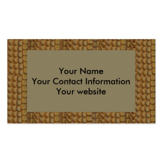 Brown Dragon Scale Faux Leather Double-Sided Standard Business Cards (Pack Of 100)