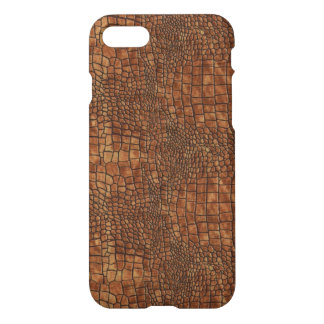 Brown Dragon Skin Design iPhone 7 Case