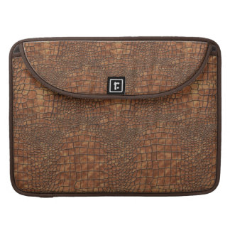 Brown Dragon Skin Design Sleeve For MacBooks