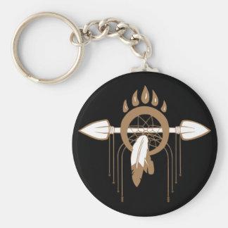 Brown Dreamcatcher Basic Round Button Key Ring