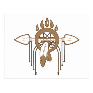 Brown Dreamcatcher Postcard