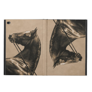 Brown Dressage Horse in Sepia Powis iPad Air 2 Case