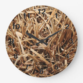 Brown Dried Out Plant Large Clock