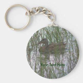 Brown Duck Nature Photography Keychain