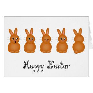 Brown Easter Bunnies Greeting Card