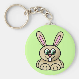 Brown Easter Bunny Keychain