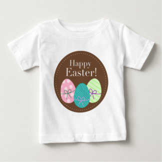 Brown Easter Eggs Happy Easter Baby T-Shirt