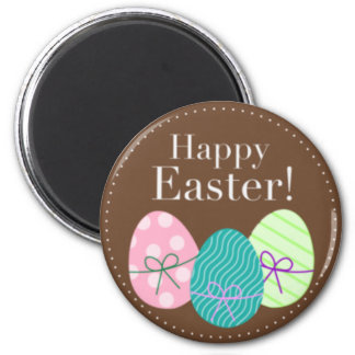 Brown Easter Eggs Happy Easter Magnet