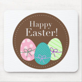 Brown Easter Eggs Happy Easter Mouse Pad