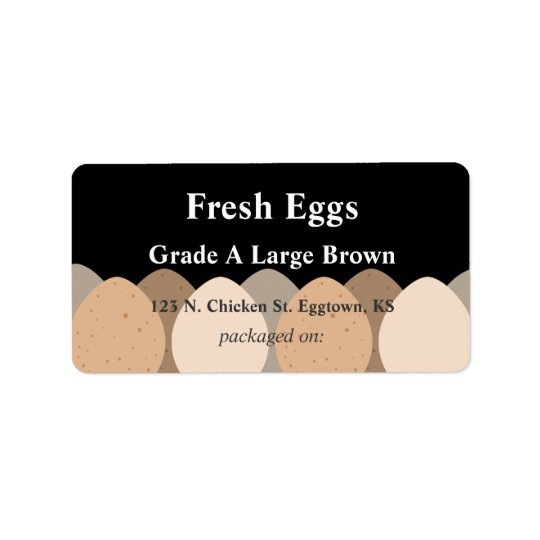 Brown Eggs Label