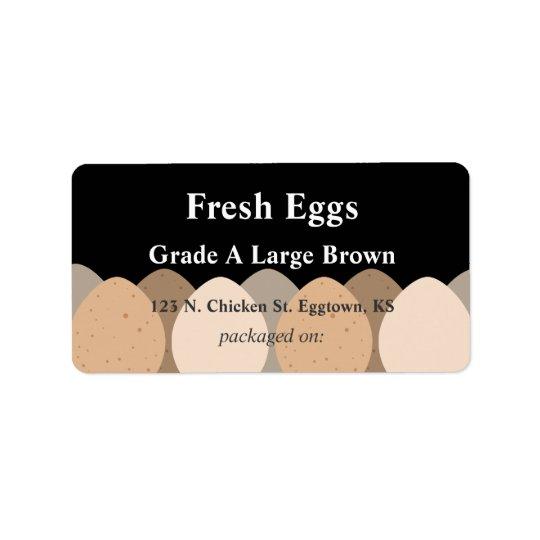 Brown Eggs Label Address Label